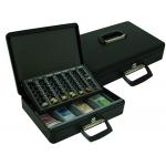 Caja caudales Q-connect 370x270x95 mm con portamonedas y bandeja para billetes