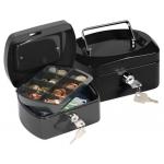 Caja caudales Q-Connect 152x115x80 mm negra con portamonedas
