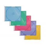 Caja de cd Q-connect slim 5 colores surtidos pack de 25 unidades