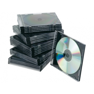 Q-Connect KF02210 - Caja slim para CD/DVD, pack de 25 unidades