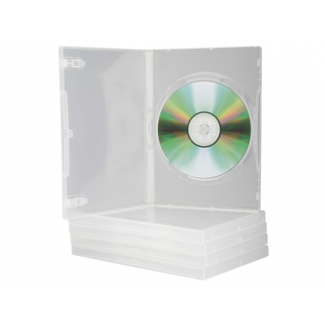 Q-Connect KF10835 - Caja para DVD, transparente, pack de 5 unidades