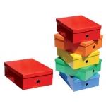 Caja Fast-PaperFlow cartón forrado color line 130x280x365 mm colores surtidos