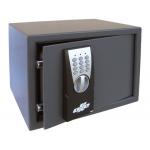 Caja fuerte Olle sobrepone 100e combinacion electrónica con llave de emergencia 250x350x265 mm