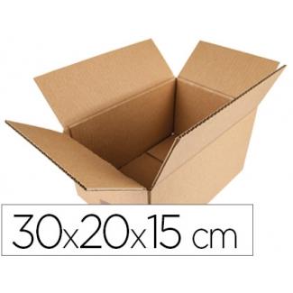 Q-Connect KF26134 - Caja para embalar, medidas 300 x 200 x 150 mm, cartón de 5 mm