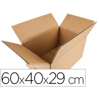 Q-Connect KF26137 - Caja para embalar, medidas 600 x 400 x 290 mm, cartón de 5 mm