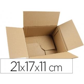 Q-Connect KF26138 - Caja para embalar, medidas 210 x 170 x 110 mm, fondo automontable, cartón de 3 mm