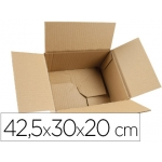 Q-Connect KF26140 - Caja para embalar, medidas 425 x 300 x 200 mm, fondo automontable, cartón de 3 mm