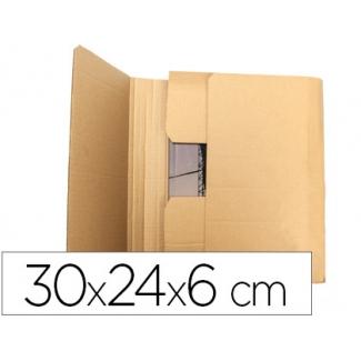 Q-Connect KF26142 - Caja para embalar libros, medidas 300 x 240 x 60 mm, cartón de 3 mm