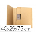 Q-Connect KF26143 - Caja para embalar libros, medidas 400 x 290 x 75 mm, cartón de 3 mm
