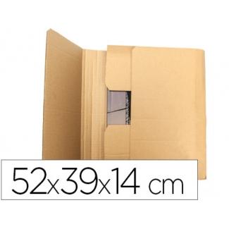 Q-Connect KF26144 - Caja para embalar libros, medidas 520 x 390 x 140 mm, cartón de 3 mm