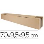 Q-Connect KF26145 - Caja para embalar alargada, formato de tubo, medidas 700 x 95 x 95 mm, cartón de 3 mm