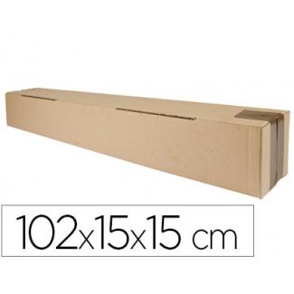 Q-Connect KF26146 - Caja para embalar alargada, formato de tubo, medidas 102 x 15 x 15 mm, cartón de 3 mm
