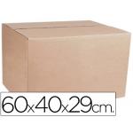 Caja para embalar anónimas medidas 600x400x290 mm espesor cartón 4,9 mm