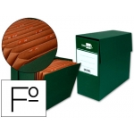 Caja transferencia con fuelle tamaño folio color verde