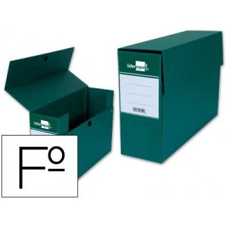 Caja transferencia tamaño folio color verde