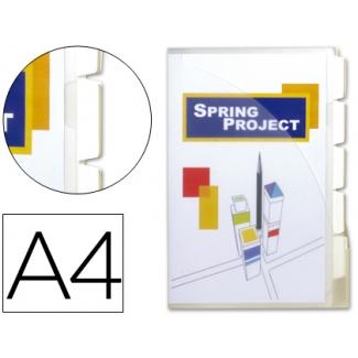 Cajetin de archivo plástico Beautone tamaño A4 con 10 fundas 5 separadores