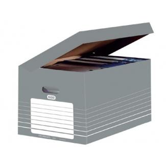 Elba 4892AX10 - Cajón para archivo definitivo de cartón, tamaño folio, color gris
