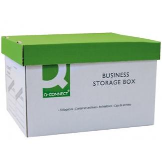 Q-Connect KF21660 - Cajón contenedor para archivo definitivo de cartón, tapa fija
