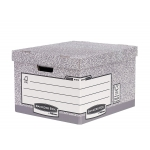 Fellowes Bankers Box - Cajón contenedor para archivo definitivo de cartón, color gris