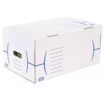 Cajon Fast-PaperFlow cartón color azul para 5 cajas archivo definitivo