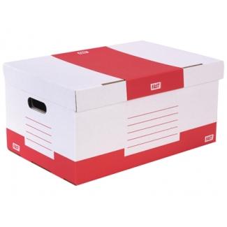 Cajon Fast-PaperFlow cartón color rojo para 5 cajas archivo definitivo