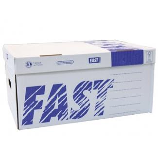 Cajon Fast-PaperFlow cartón para 6 cajas archivo definitivo con lomo 8 cm tamaño A4 pack de 5 unidades