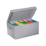 Cajon Fast-PaperFlow polipropileno para 6 cajas archivo definitivo lomo 8 cm tamaño A4 pack de 10 unidades