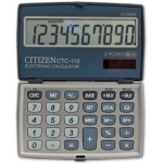 Calculadora Citizen 10 digitos color plata 106x63x14 mm