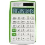 Calculadora Citizen 12 digitos color verde 720x120x90 mm