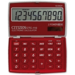 Calculadora Citizen 10 digitos color burdeos burgundy 106x63x14 mm