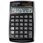 Calculadora Citizen 12 digitos negra 120x72x9 mm