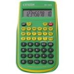 Calculadora Citizen científica color verde 128 funciones 8+2 digitos 154x84x19 mm