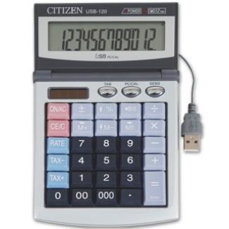 Calculadora Citizen sobremesa 12 digitos con cable usb para conexión a pc