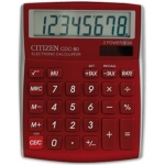 Calculadora Citizen sobremesa 8 digitos color burdeos