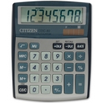 Calculadora Citizen sobremesa 8 digitos color plata
