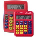 Calculadora Citizen sobremesa combo + color roja en blister