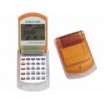 Calculadora Imac calendario con alarma transparente naranja con reloj