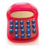 Calculadora fantasía diseño moderno color Imac rojo