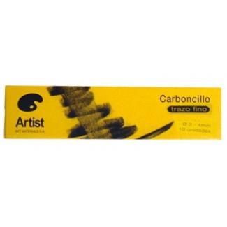 Artist W001 - Carboncillo fino, 3-4 mm, caja de 10 barras