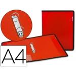 Carpeta Beautone 2 anillas 25 mm polipropileno roja con bolsa y tarjetero con ribete negro
