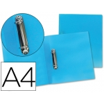 Carpeta Beautone 2 anillas mixtas 25 mm polipropileno tamaño A4 color azul serie frosty