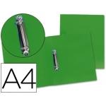 Carpeta Beautone 2 anillas mixtas 25 mm polipropileno tamaño A4 color verde serie frosty