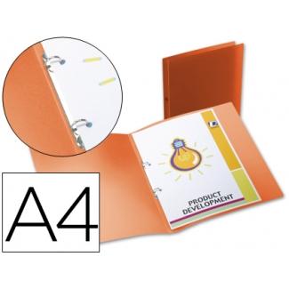 Carpeta Beautone 2 anillas redondas mini 15 mm polipropileno tamaño A4 color naranja