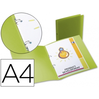 Carpeta Beautone 2 anillas redondas mini 15 mm polipropileno tamaño A4 color verde
