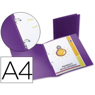 Carpeta Beautone 2 anillas redondas mini 15 mm polipropileno tamaño A4 color violeta