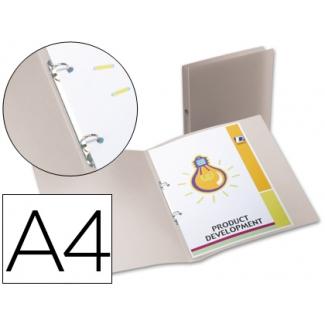 Liderpapel CA67 - Carpeta de anillas, 2 anillas redondas de 15 mm, polipropileno, A4, translúcida