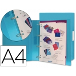 Carpeta Beautone 4 anillas 25 mm mixtas polipropileno tamaño A4 color azul serie frosty