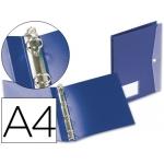 Carpeta Beautone 4 anillas redondas 25 mm polipropileno tamaño A4 color azul con dossier broche en portada