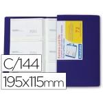 Carpeta Beautone clasificador de tarjetas polipropileno 115x190 mm para 144 tarjetas color azul