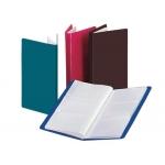 Carpeta Beautone clasificador de tarjetas polipropileno color rojo para 72 tarjetas 6 a la vista